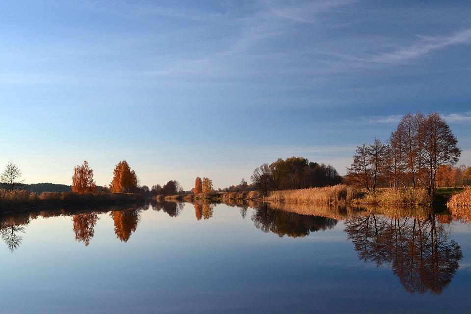 Reflection, Water, Nature, Lake