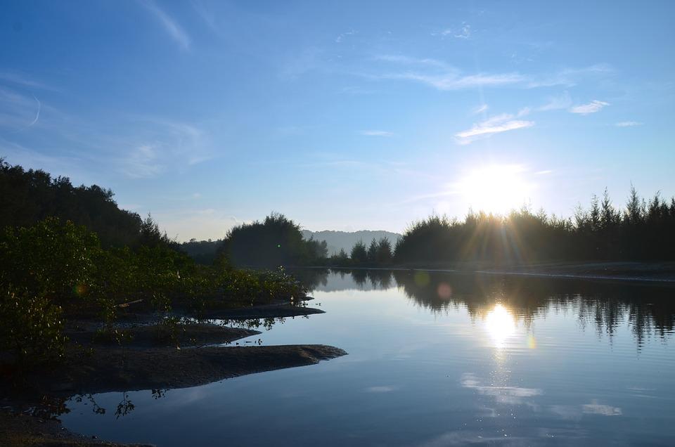 Sunrise, Lake, Reflection, Water, Landscape, Nature