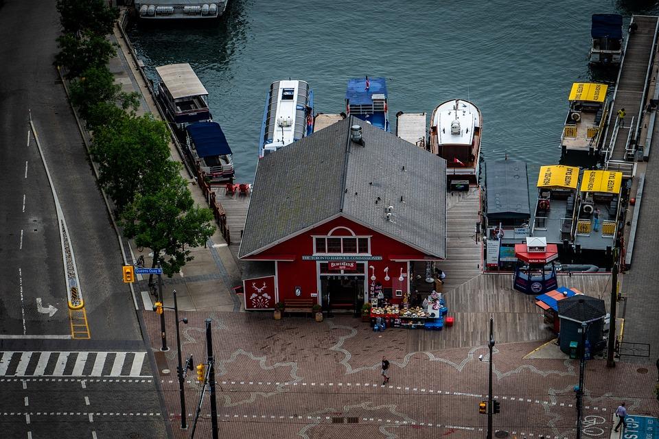 Lakeside, Store, Hut, Water, Boats, Toronto, Canada
