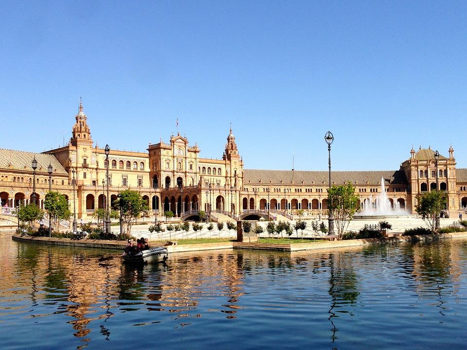 Seville, Spanish Space, Water, Plant, Landmark