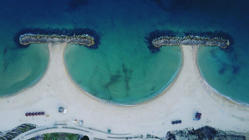 Israel, Sea, Drone, Dji, Water, Coast, Landscape