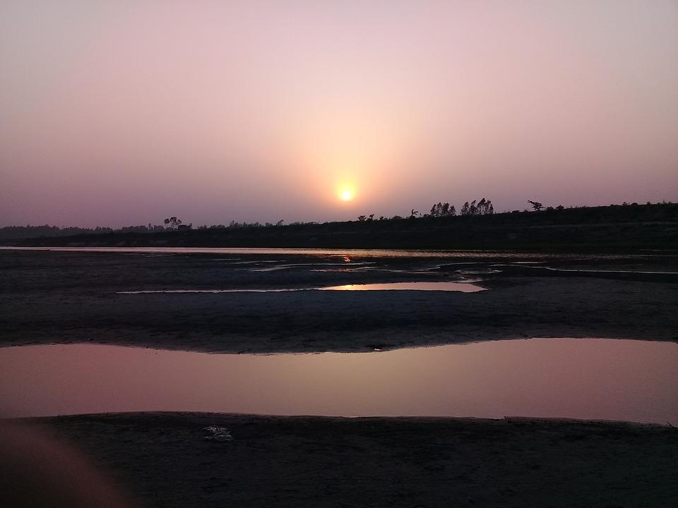 Sunset, Dawn, Water, Sun, Evening, Landscape, Outdoors