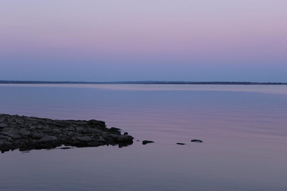 Sunset, Lake, Blue, Landscape, Water, Sky, Nature, Dusk