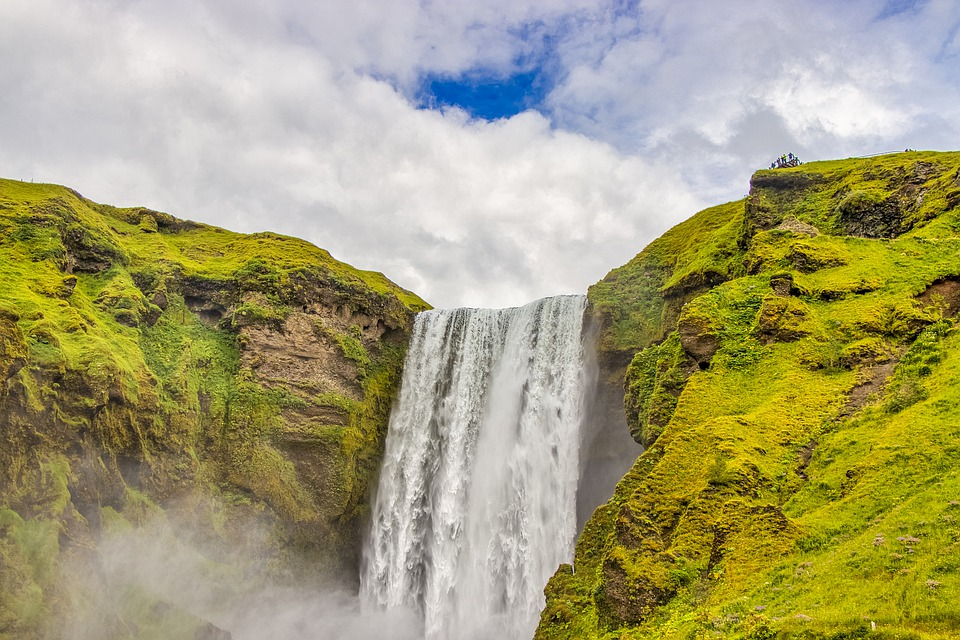 Waterfall, Iceland, Landscape, Water, Nature, The Stage