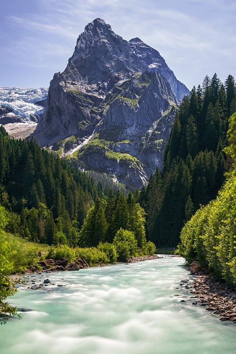 Mountains, Landscape, Nature, Swiss, Travel, Water