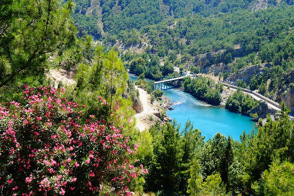 Turkey, Mountain, Water, Landscapes, Forest, Views