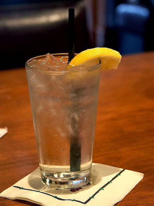 Lemon, Water, Ice, Cocktail, Drink, Food