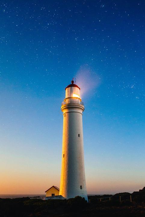 Lighthouse, Shore, Coast, Water, Coastline, Light