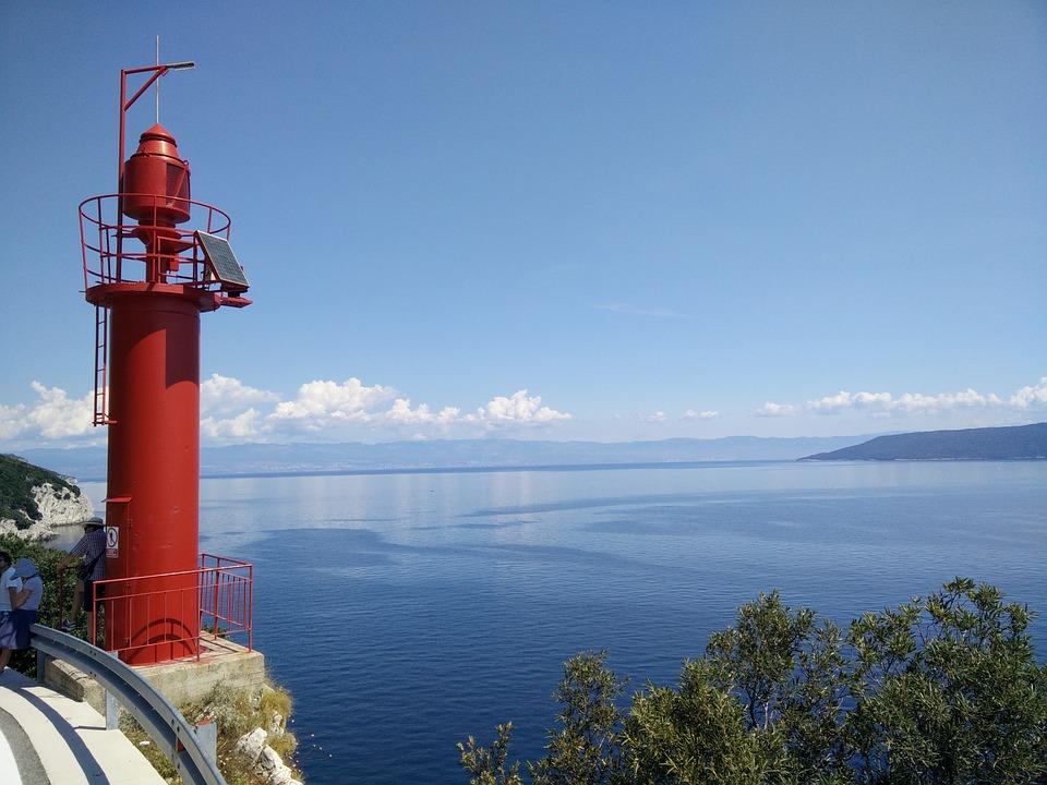 Lighthouse, Croatia, Sea, Water, Blue