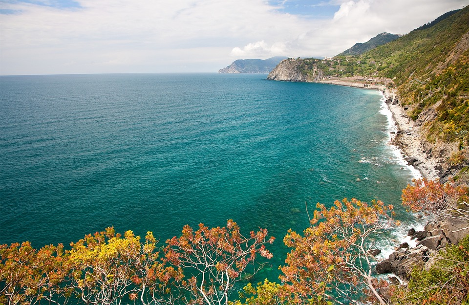 Liguria, Coastline, Panorama, Italian, Water, Nature