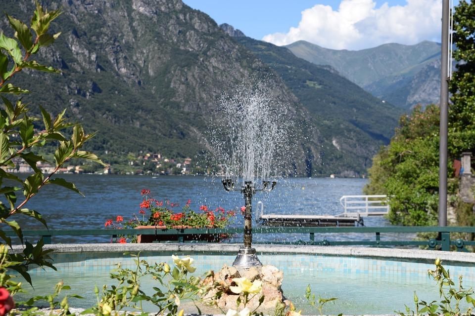 Fontana, Lake, Lugano, Lombardy, Italy, Water