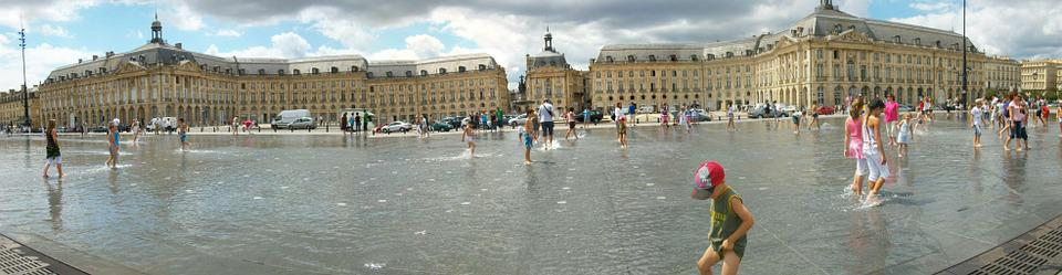 Panoramic, Bordeaux, Water Mirror, Place De La Bourse