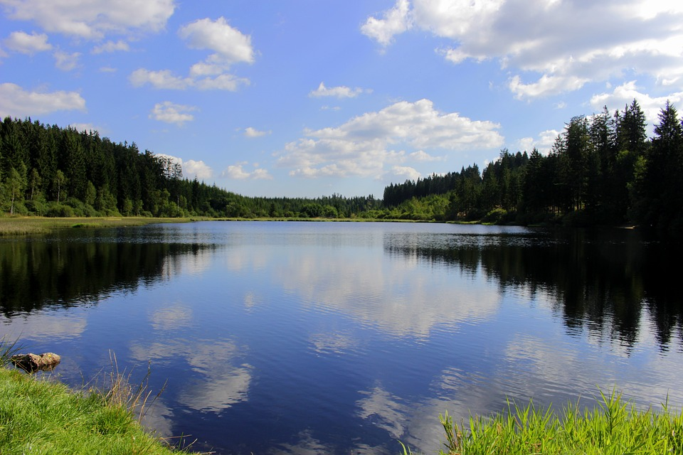 Water, Clouds, Sky, Nature, Moor, Mirroring, Landscape