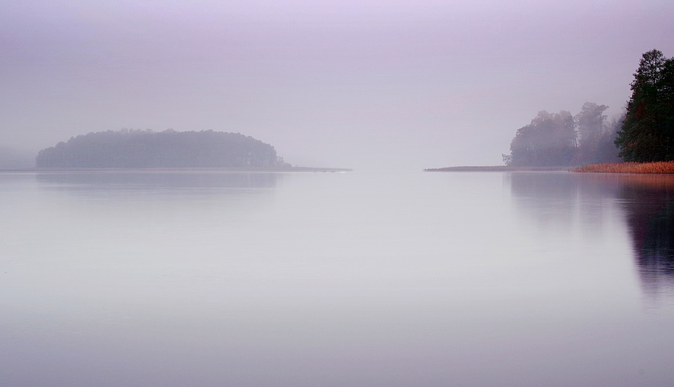 Lake, The Fog, Water, Morning, Dawn, Autumn, Landscape