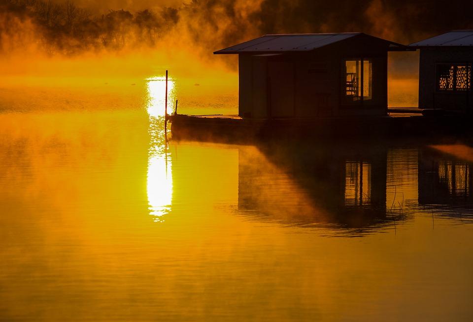 Sunrise, Morning, Lake, Nature, Light, Water