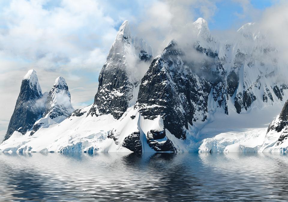 Mountain, Winter, Water, Landscape, Nature