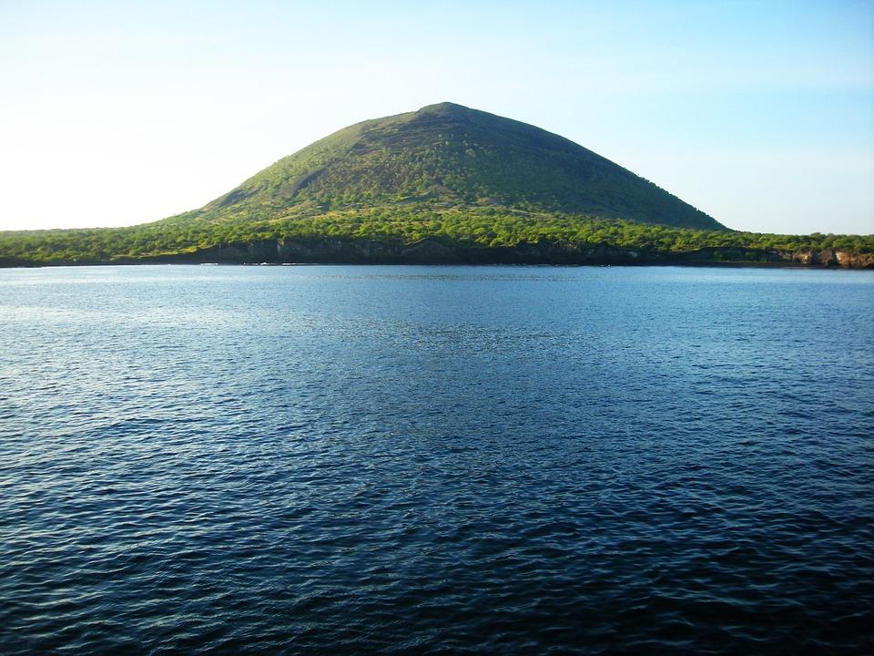 Marine, Hill, Mountain, Water, Rocks, Island, Galapagos