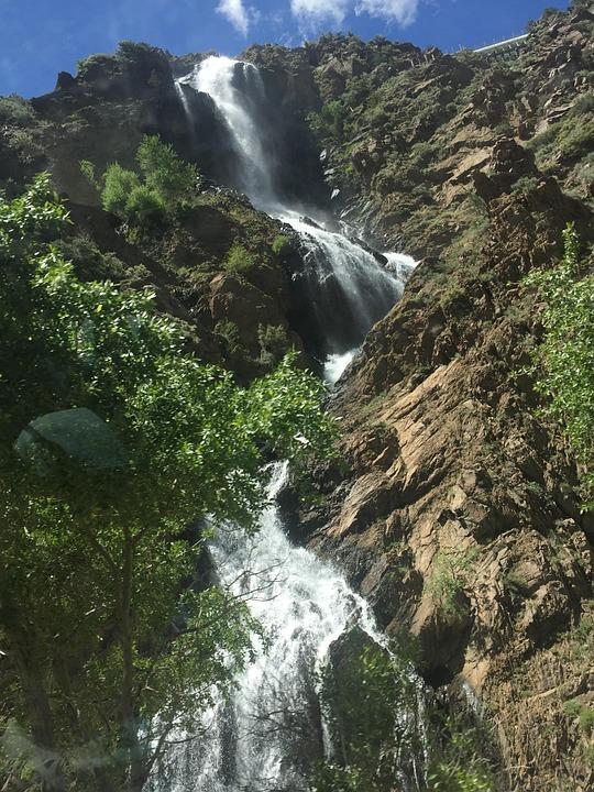 Waterfall, Nature, Landscape, Mountain, Water