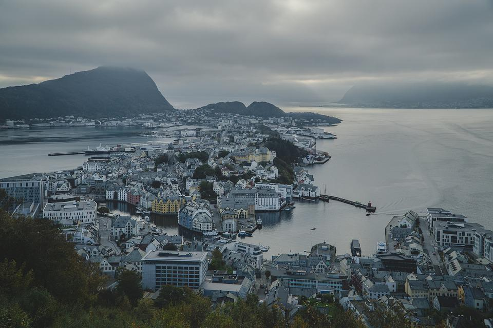 Norway, Mountains, Landscape, Mountain, Water, Fjord