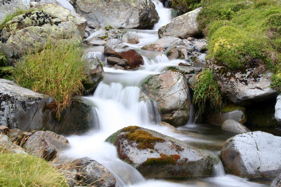 River, Mountain, Rush, Nature, Water, Landscape