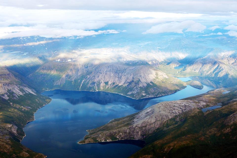 Mountain, Clouds, Sky, Air, Norway, Water, Rocks