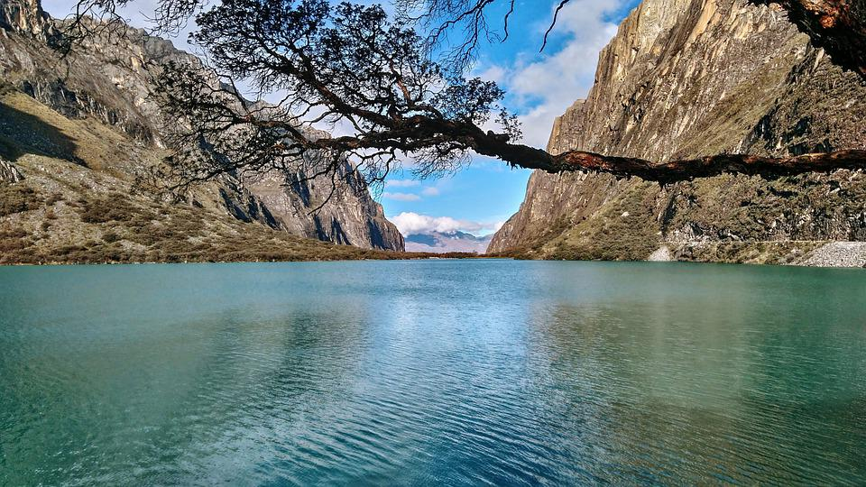 Water, Mountains, Landscape, Scenic, Trees, Blue