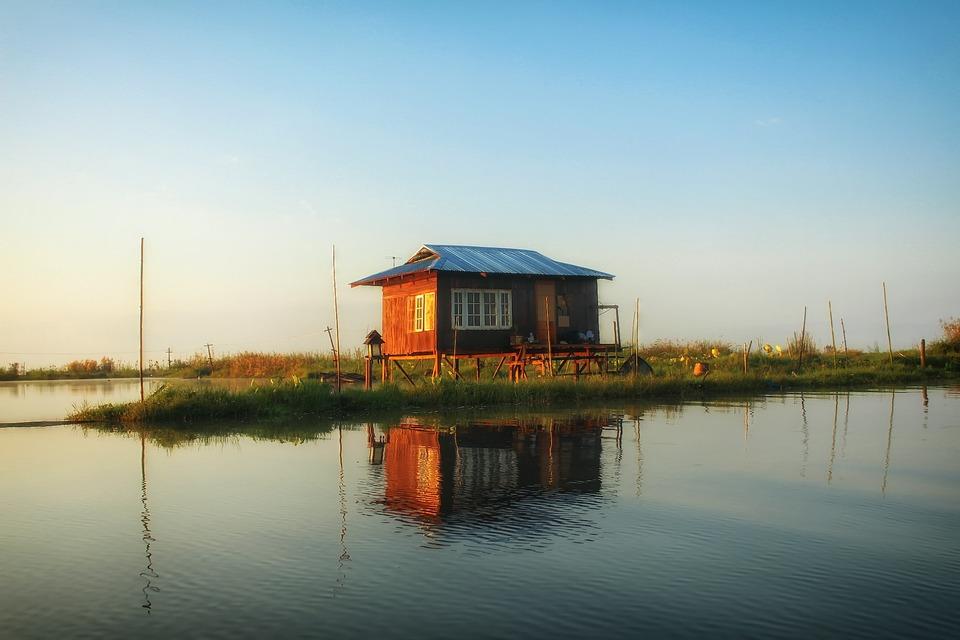 Inle Lake, Myanmar, Lake House, House, Lake, Water