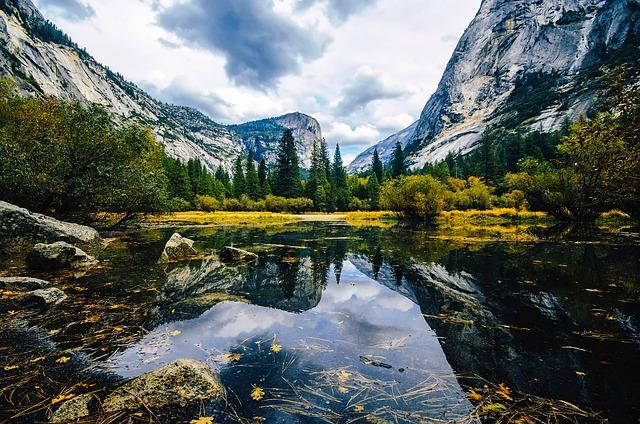 Free Photo Water National Park Yosemite Mirror Lake California - National parks california