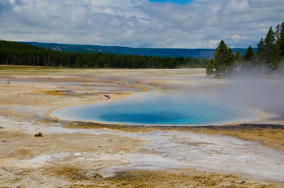 Yellow Stone, Scenic, Nature, Water, Hot Spring