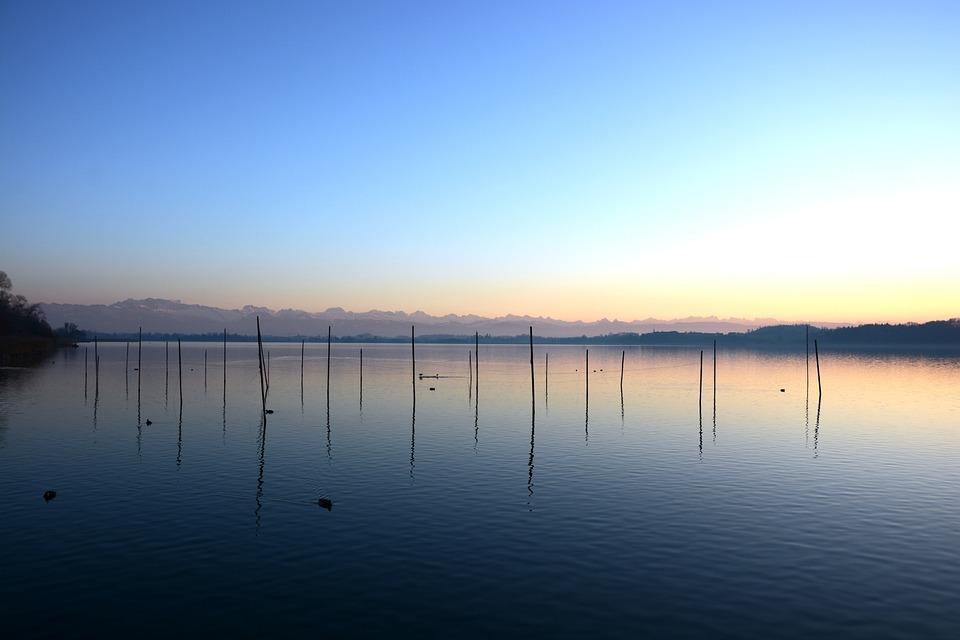Sunset, Lake, Abendstimmung, Water, Nature