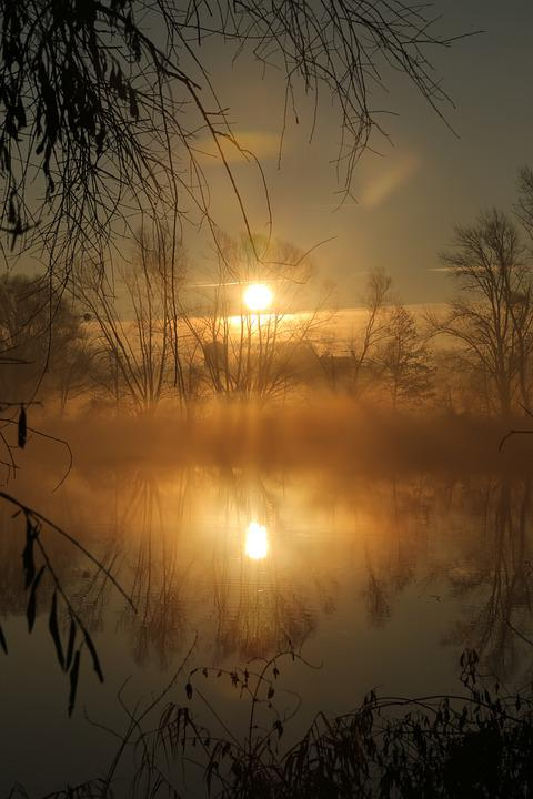 Water, Morning, Mirroring, Nature, Sunrise, Landscape