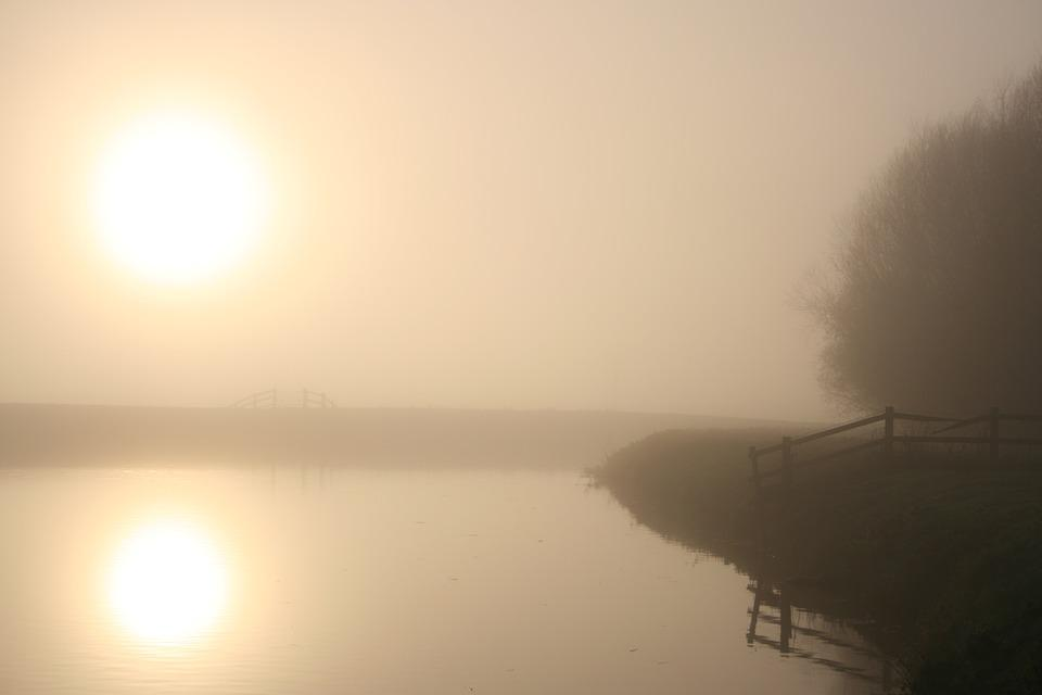 Mist, Reflections, Nature, Water, Tranquil
