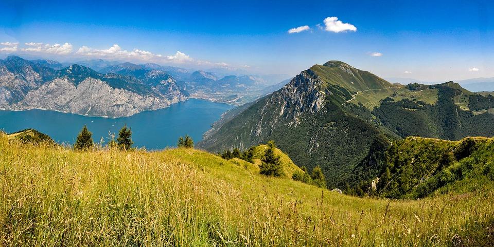 Mountain, Lake, Garda, Landscape, Water, Nature, Italy