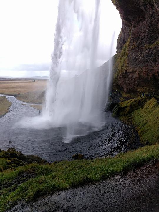 Waterfall, Water, River, Cliff, Nature, Scenery