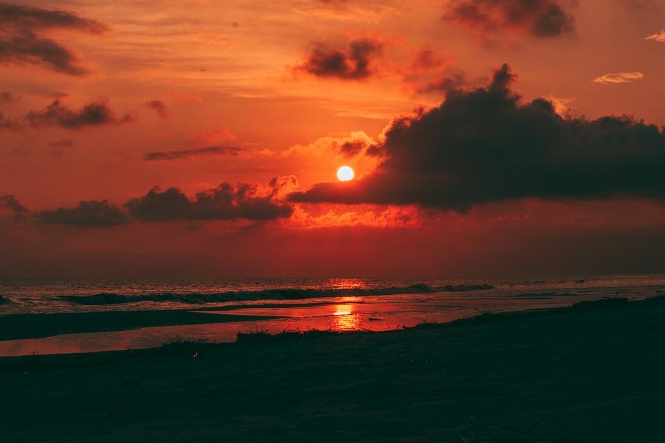 Sunset, Beach, Sky, Sea, Summer, Ocean, Water, Dusk