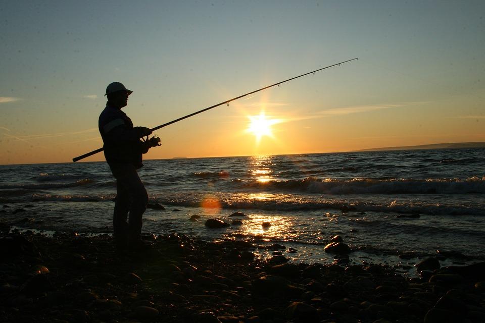 Fishing, Coast, Ocean, Sea, Water, Landscape, Travel