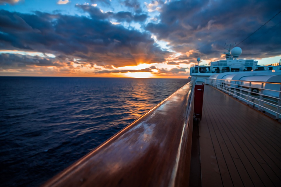 Sunset, Ocean, Vacation, Landscape, Ship, Water