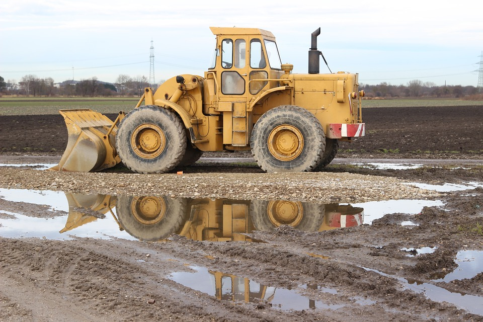 Tractor, Water, Out, Farm, Industry, Farming, Equipment