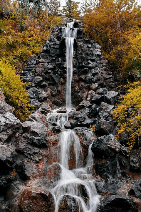 Nature, Fall, Water, Outdoors, Waterfall
