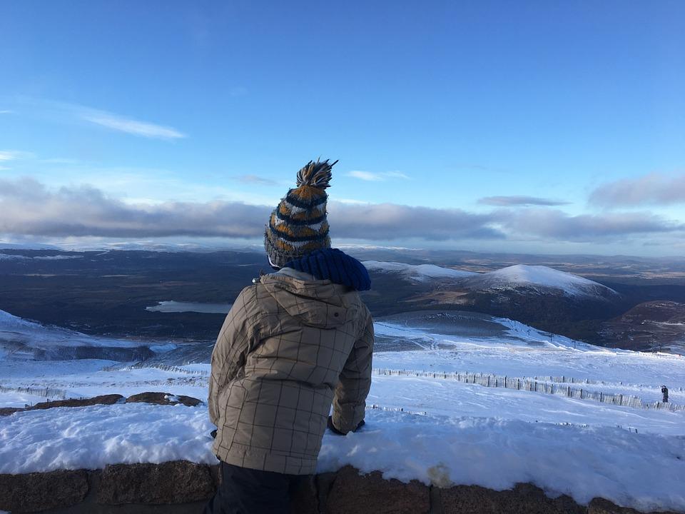 Outdoors, Snow, Winter, Sky, Water, Aviemore, Scotland