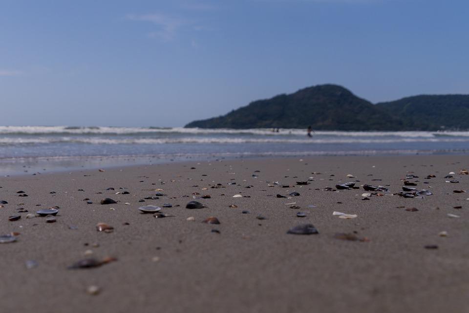 Beach, Panorama, Ground Level, Sand, Ocean, Water
