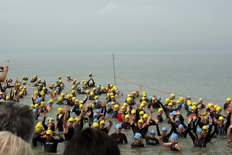 Triathlon, Sport, Swim, Water, Swimmer, People