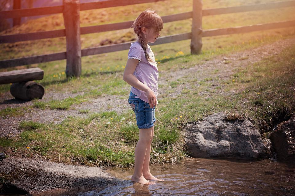 Girl, Bach, Water, Nature, Person, Human