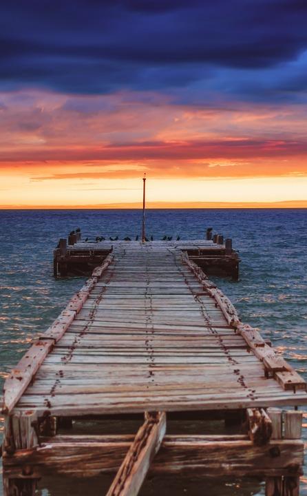 Pier, Jetty, Ocean, Water, Beach, Sky, Landscape