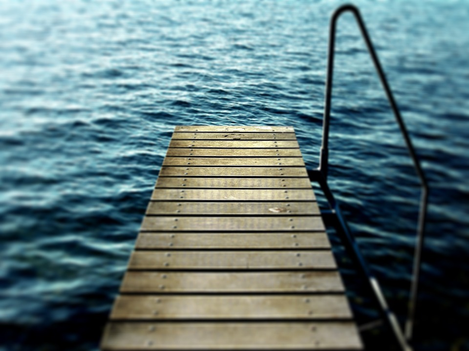 Lake, Pier, Wooden, Water, Nature, Summer, Peaceful