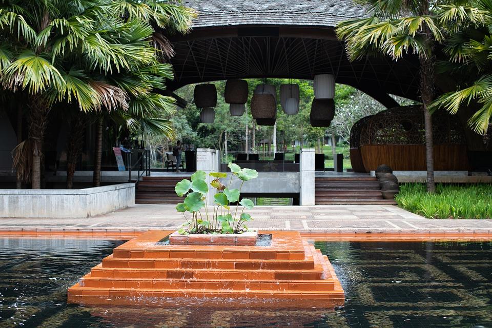 Garden, Pool, Tree, Travel, Summer, Resort, Water