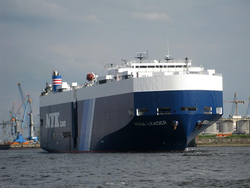 Freighter, Ship, Port, Hamburg, Sea, Cargo, Water
