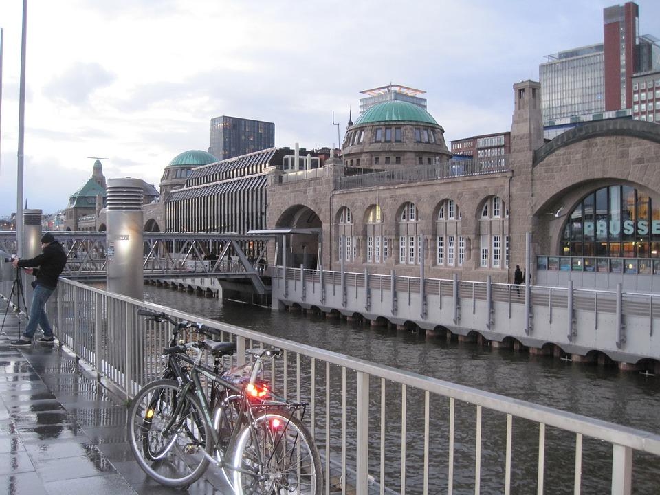 Hamburg, Landungsbrücken, Port, Water