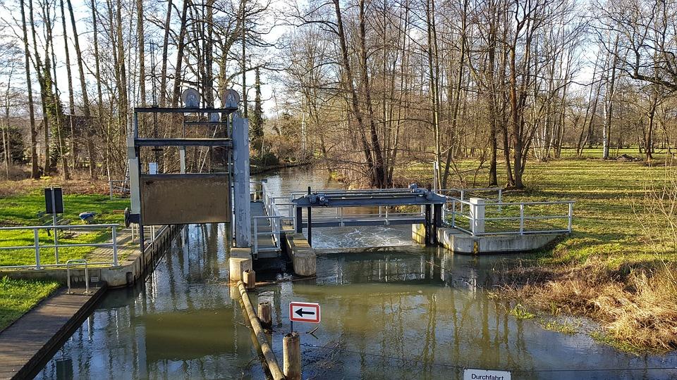 Weir, Water, River, Nature, Landscape, Water Power