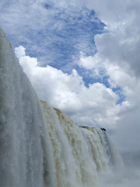 Iguazu, Waterfall, Brazil, Water Power, Force Of Nature